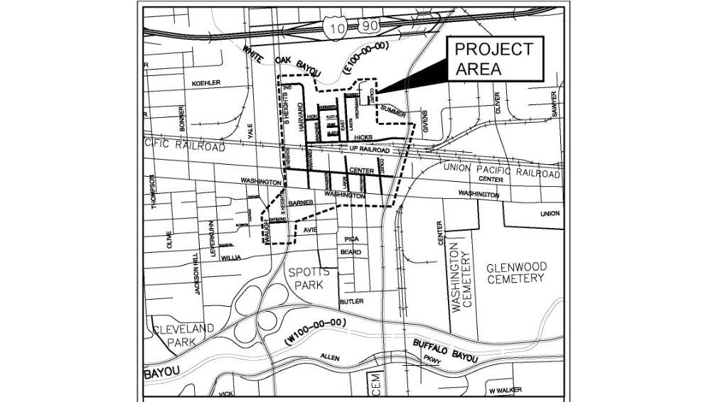 Houston Heights Neighborhood Street Reconstruction