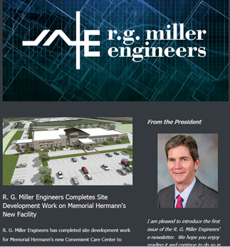 R.G. Miller Engineers releases its first e-newsletter