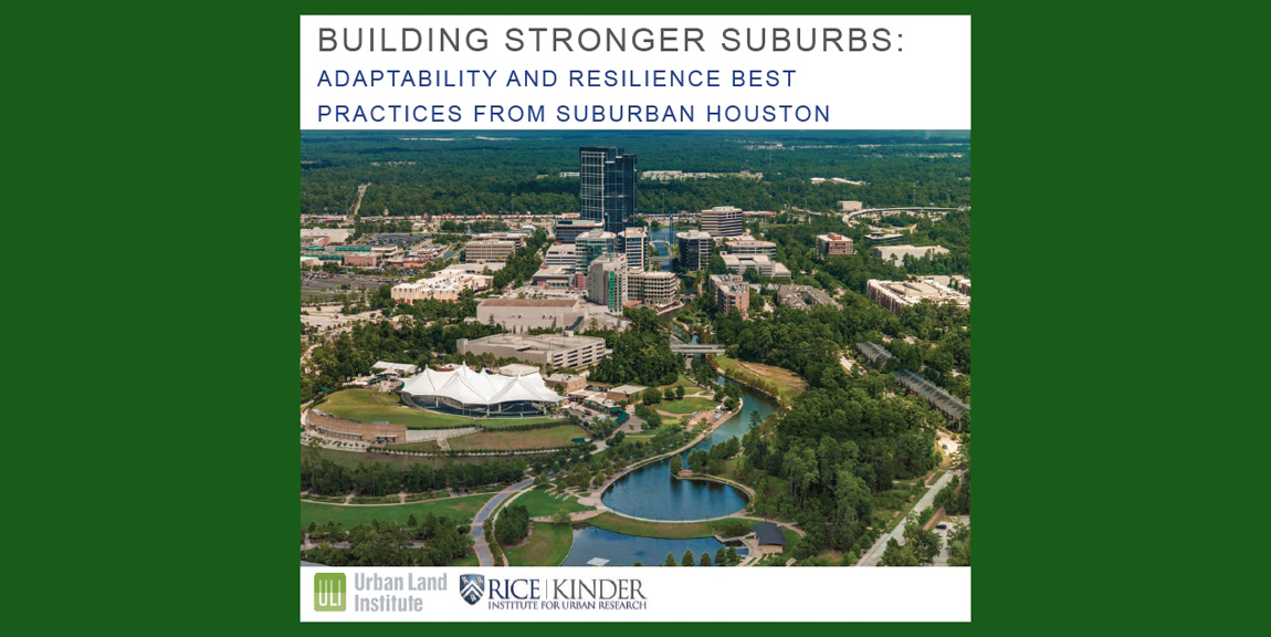 New Report:  Building Stronger Suburbs
