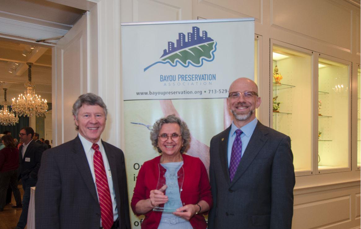 Katy Prairie Conservancy President/CEO Honored by Bayou Preservation Association with Terry Hershey Bayou Stewardship Award