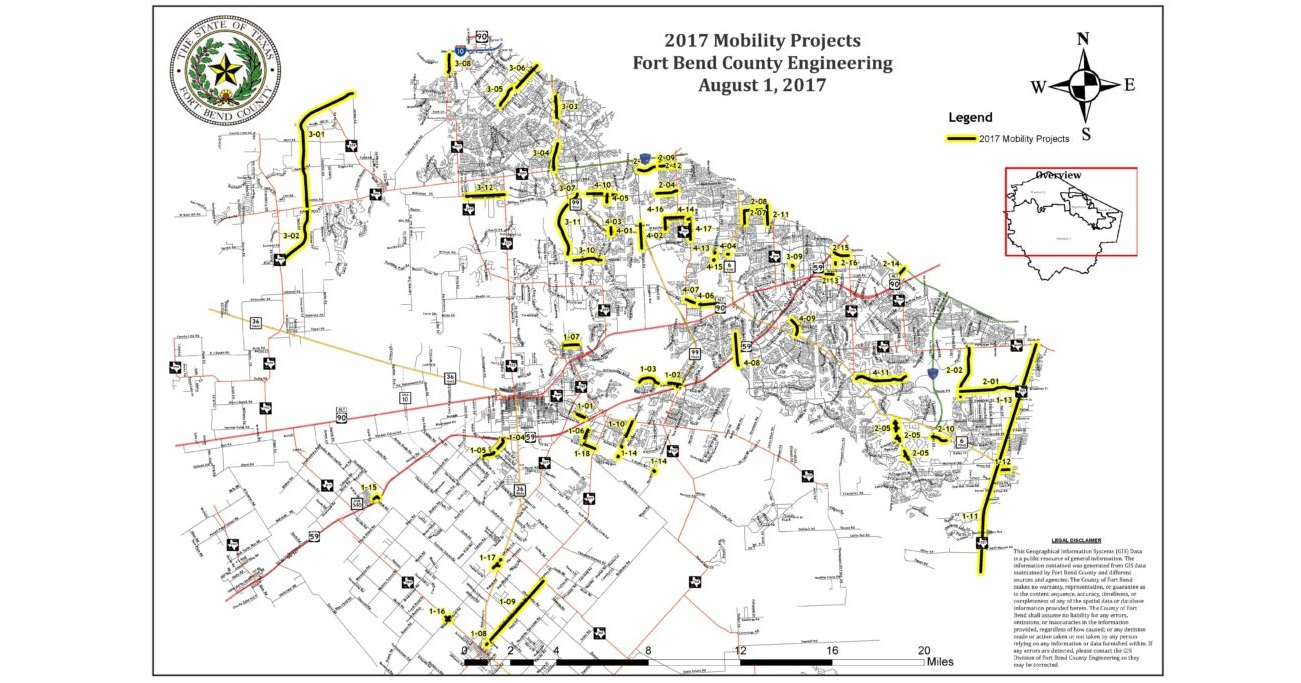 Fort Bend County 2017 Mobility Bond Program Projects